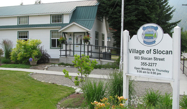 The Village of Slocan, B.C., is situated on Highway 6, at the south end of Slocan Lake.