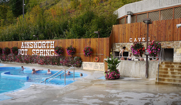 Ainsworth Hot Springs is a popular tourist destination in the West Kootenay.