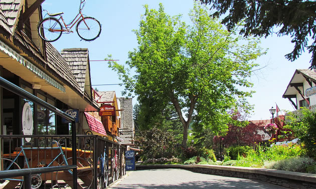 Kimberley's downtown Plaztl is where tourists and locals congregate.