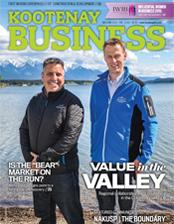 Kootenay Business magazine cover