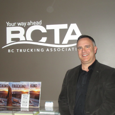 Dave Earle is the new president and CEO of the BC Trucking Association.