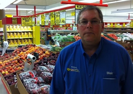 No Frills franchise owner, Blair McAuley.