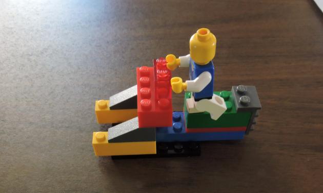 Kirsten's snowmobile creation