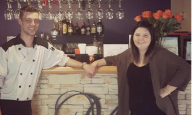 Brendan and Paige Mulder run their new restaurant, Mulder's, in Creston.