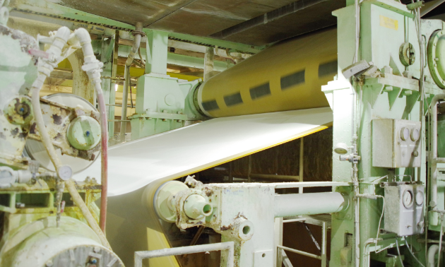 The second section of the pulp machine is where the wet fibre web passes between large rolls loaded under high pressure to squeeze out as much water as possible. The sheet is supported by press felts that maximize water absorption. Fibre-to-fibre bonding is improved, which increases the sheet's strength.