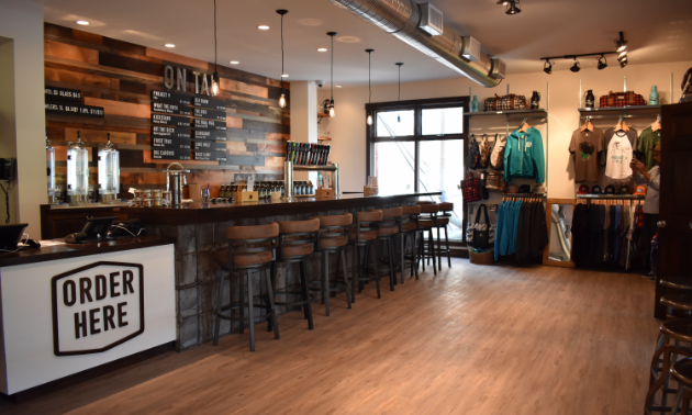 Fernie Brewing Company's new tasting room.