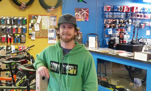 Adam Pomeroy's shared passion for bikes and biking led him and Rob Gretchen to open Cycology Bikes in Castlegar, B.C.
