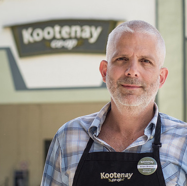 Allan Broom, the Kootenay Co-op's newest general manager, stands outside the store's 225 Baker Street location which will soon be a place of the past.