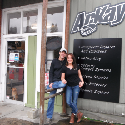 Reny Kitto and Carlie Wilkinson are the owners of Arkay Computers in Nakusp.