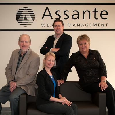Tim Affolter, Monique Lynn, Collin Ludwar and Debbie Perepolkin are advisors at Assante Wealth Management in Castlegar, B.C.