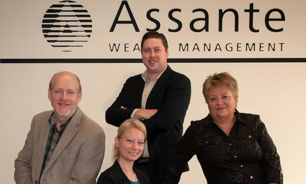Tim Affolter, Monique Lynn, Collin Ludwar and Debbie Perepolkin are advisors at Assante Wealth Management in Castlegar, B.C.