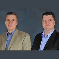 Dean Beck (left) and Brad McInnes are now practicing as real estate agents in addition to owning and operating Rocky Mountain Appraisal.