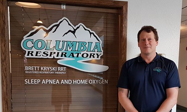 Brett Kryski opened Columbia Respiratory in Trail, B.C., in April 2017.