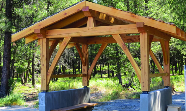 New entrance structure at the start of the Gateway Trail in Cranbrook.