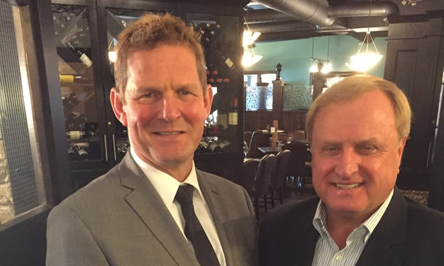 David Hull, Executive Director of the Cranbrook Chamber of Commerce and Sergio Marchi, CEO of the Canadian Electricity Association