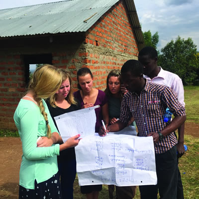Four College of the Rockies nursing students participated in a College-sponsored educational opportunity in Kenya in 2016.