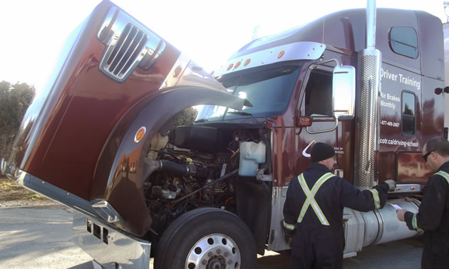 Collin Pitney, truck driving instructor at COTR, offered a few safe driving tips.