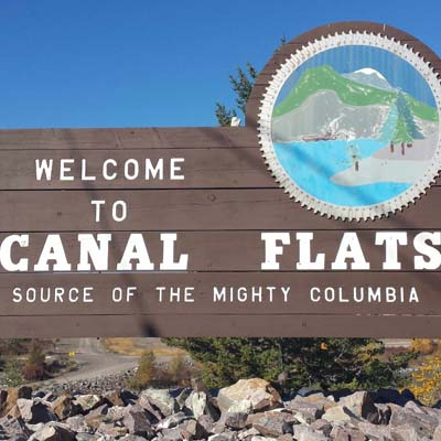 The Village of Canal Flats sign