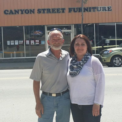 Doug and Charlene Vance opened Canyon Street Furniture in Creston in March 2015