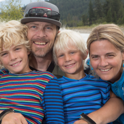 Cassy Campbell with husband Forrest and their two children
