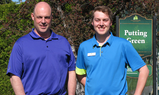 Paul Whittingham and Stewart Medford welcomed golfers to the Cranbrook Golf Club in late April.