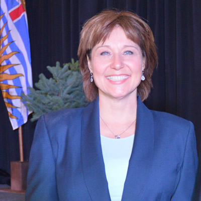 B.C. Premier Christy Clark was introduced to chamber of commerce luncheon guests in Cranbrook on June 23 by MLA Bill Bennett.