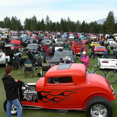 Overview of Columbia Valley Classic Car Show.