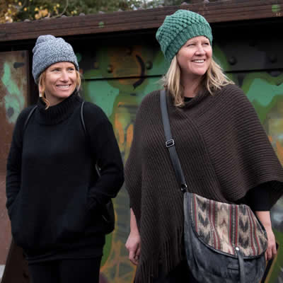 Deanna Peake and Nicole Leckenby feature merchandise from Canadian clothing designers, artists and artisans at Coal Town Goods in Fernie, B.C.