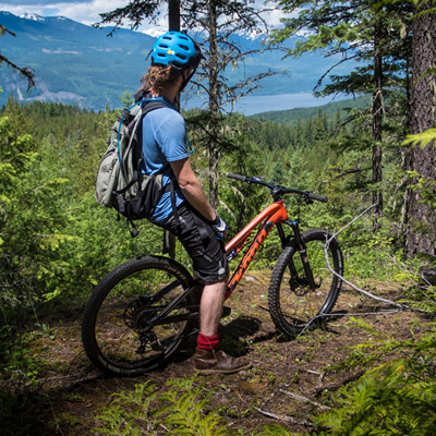 Biking and hiking trails in Electoral Area A, Central Kootenay, offer dramatically beautiful views.