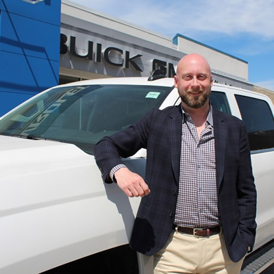 Dustin Denham, dealer principal/manager at Denham Chevrolet GMC Buick in Fernie.