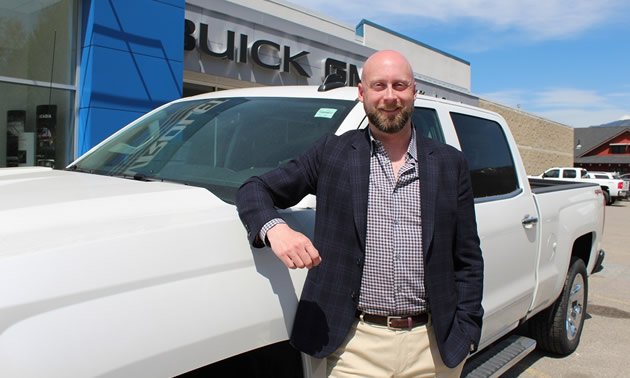 Dustin Denham, dealer principal/manager at Denham Chevrolet GMC Buick in Fernie.