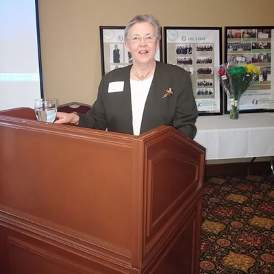 Jean-Ann Debreceni, EKC Board Chair at a previous Community Cash Awards event