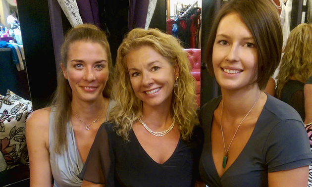 Cheryl Côté is the owner of Esprit de la Femme Lingerie in Nelson, B.C. Shown here with her staff Jody Deverney (right) and Katherine van der Veen (left).