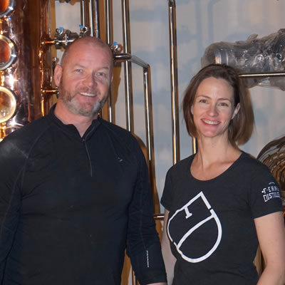 Andrew Hayden and Jillian Rutherford, Fernie Distillers.