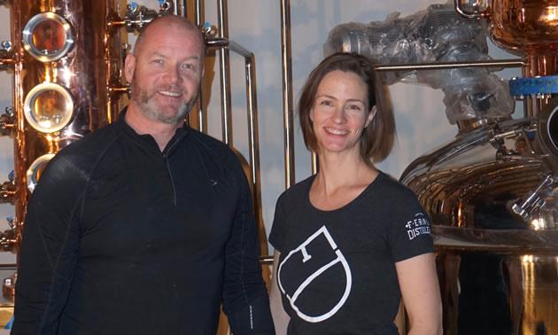 Andrew Hayden and Jillian Rutherford, Fernie Distillers.