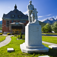 Heritage building and historical monument in Fernie, B.C.