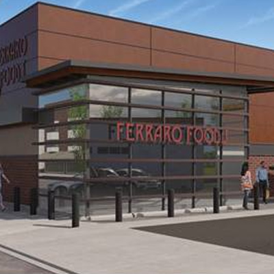 Artist's rendition of the new Ferraro Foods store in downtown Trail.