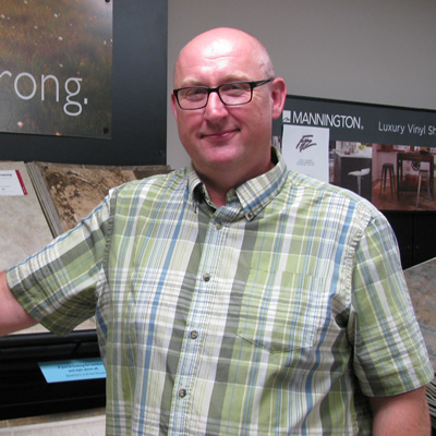 Mark Haines is the manager at Fitz Flooring in Cranbrook