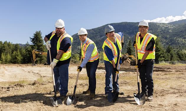 Construction in Castlegar, British Columbia, began in June 2016.