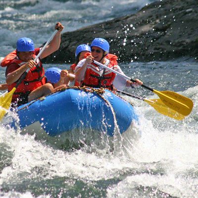 Whitewater rafting is one of many activities available through Get Lost Adventure Centre in Rossland, B.C.