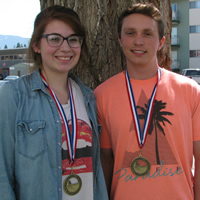 MBSS students Devon Kennedy and Brandon Ouillette are 2015 Skills Canada B.C. gold medal winners in TV/video production.