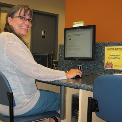 Doreen Cardwell completed the Happiness Survey in Creston, B.C.
