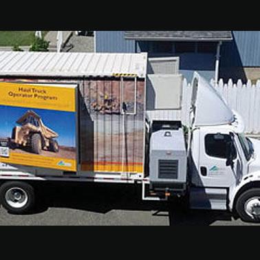 Haul Truck Operating training vehicle