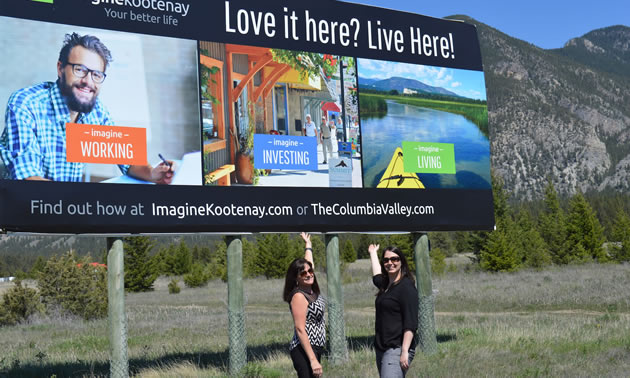 Susan Clovechok (L) of the Columbia Valley Chamber of Commerce and Jessica Fairhart of Imagine Kootenay are enthusiastic about regional collaboration.