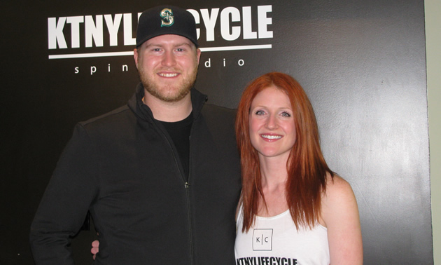 Jack Caldwell and Sjanne Beattie opened Kootenay Life Cycle spin studio in October 2016.