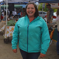 Jen Comer is the farmers market manager of the Creston Valley Farmers' Market.
