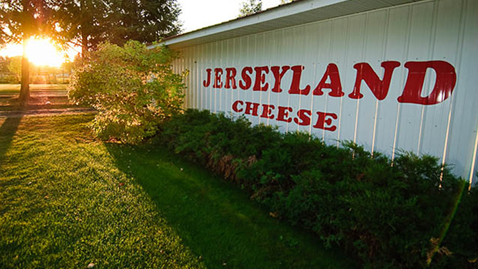 A sign for the Jerseyland Organics farm in Grand Forks, B.C.