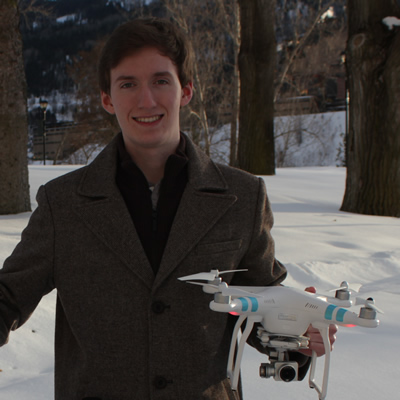 Jordan Strobel is a full-time student, a certified drone pilot and an experienced entrepreneur.