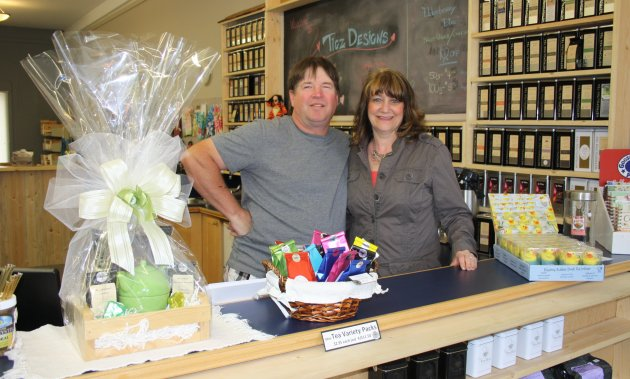 Bill and Lori Cameron, owner of Tigz Tea Hut in Creston, BC. Tea and gift store.