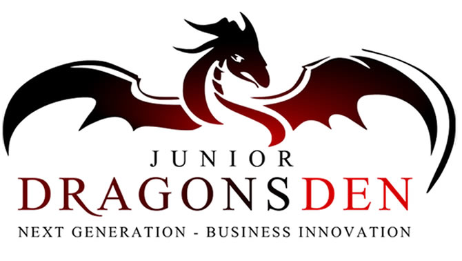 The logo for the Junior Dragon's Den student competition.